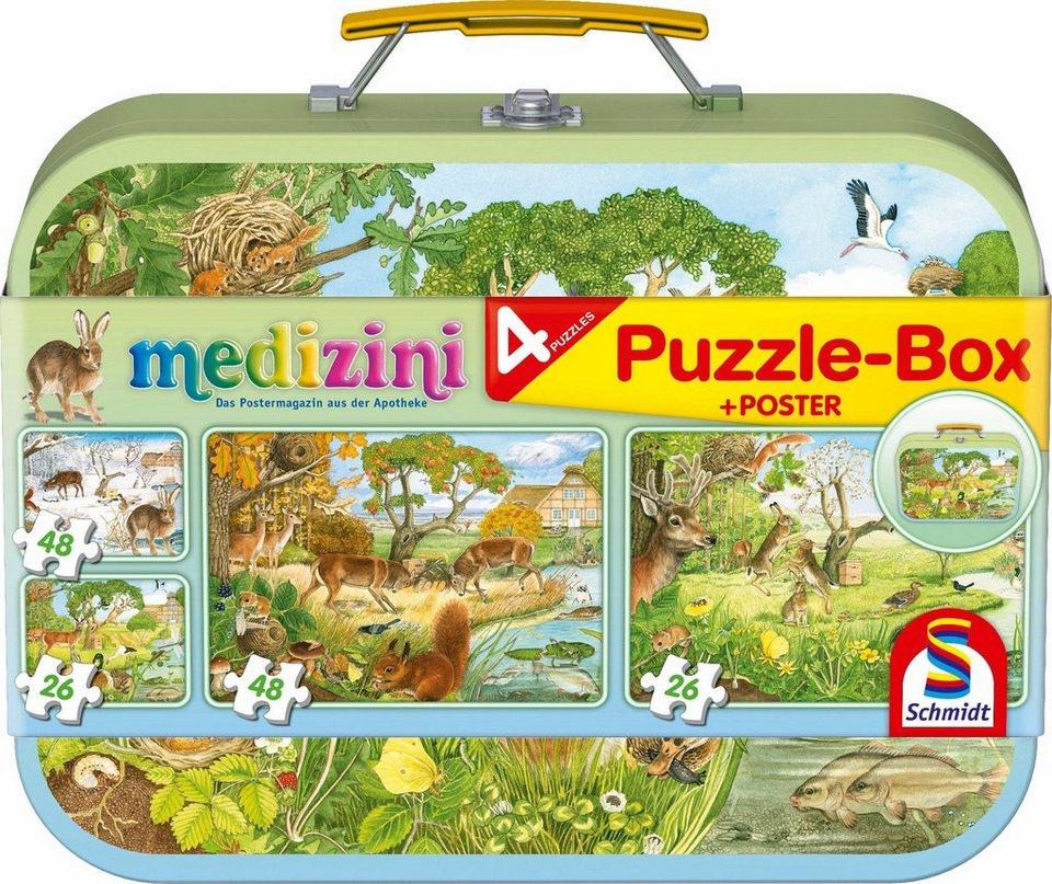 Schmidt Spiele Puzzle Box,  Medizini - Die 4 Jahreszeiten Box, 2x26 und 2x48 Teile  online kaufen