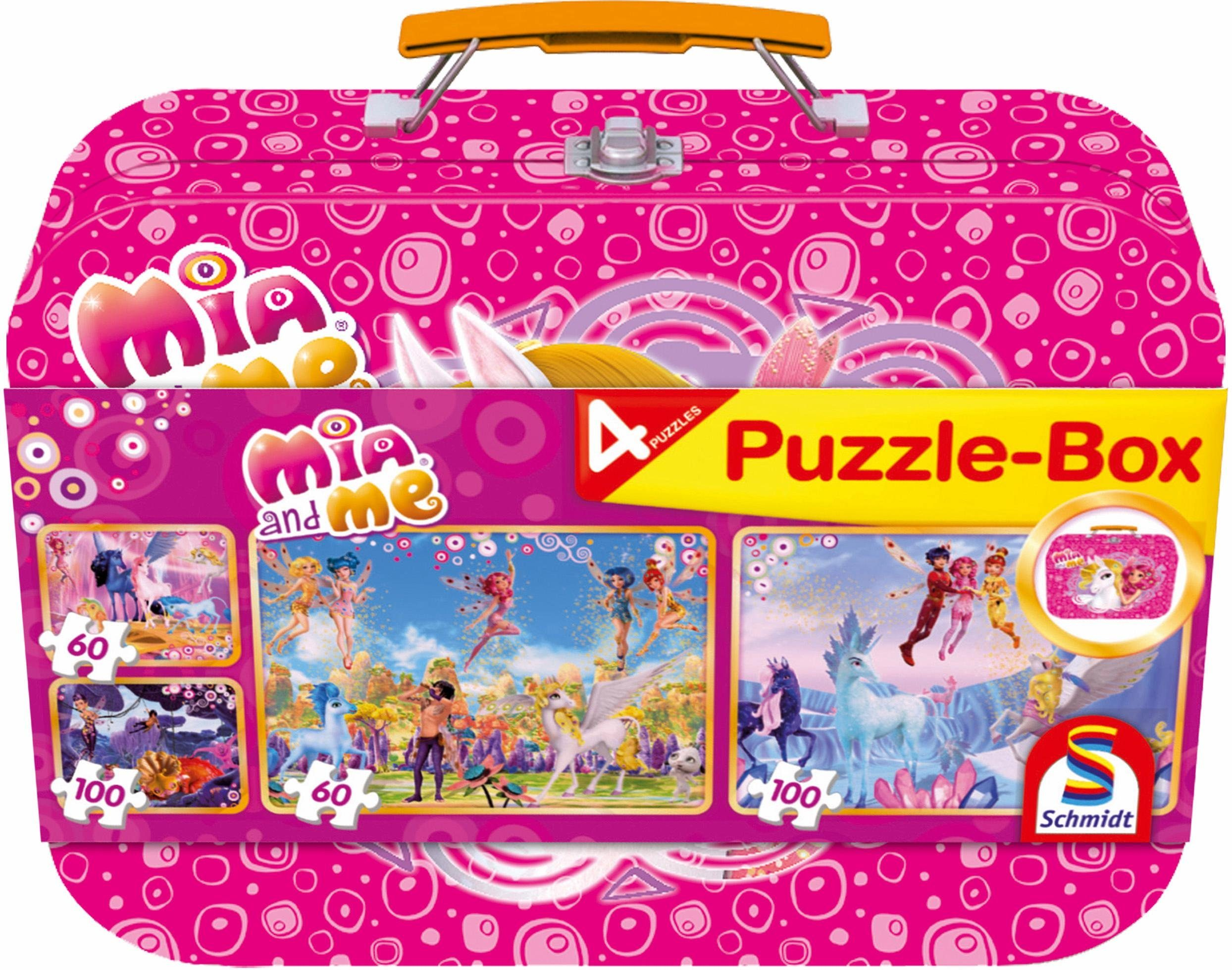 Schmidt Spiele Puzzle, »Mia and Me Box, 2x60 und 2x100 Teile«