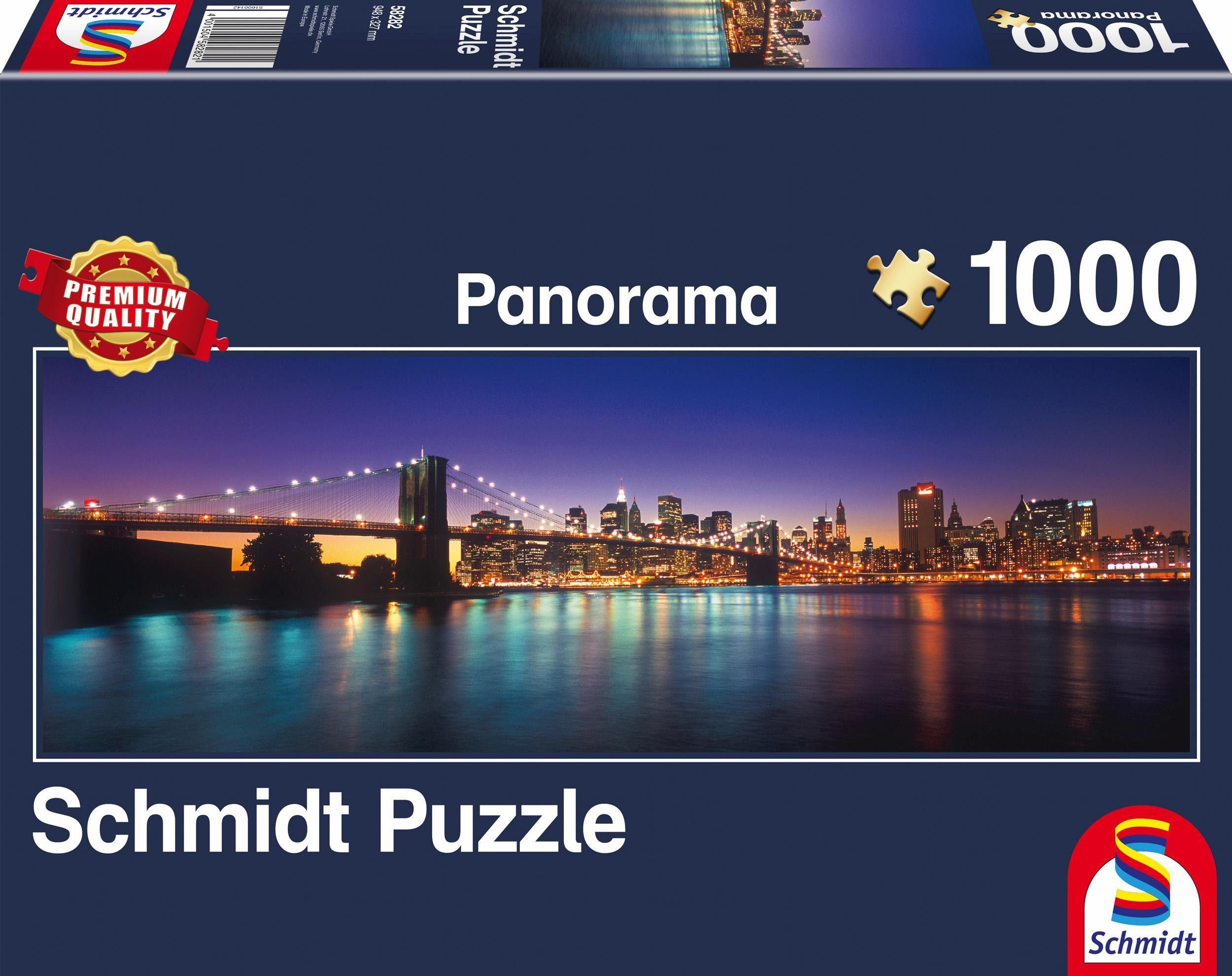 Schmidt Spiele Panoramapuzzle, »Lichter von New York, 1000 Teile«
