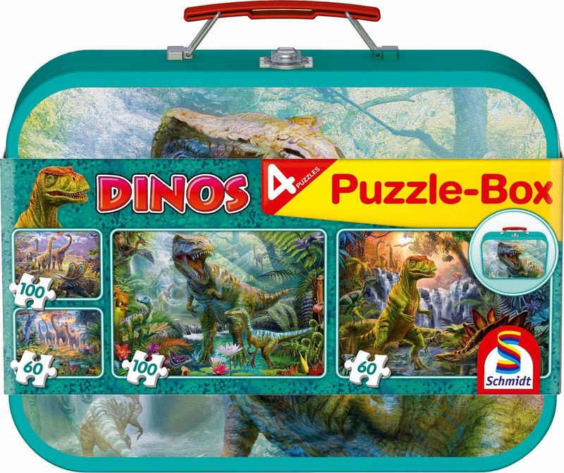 Schmidt Spiele Puzzle »Dinos Box, 2x60 und 2x100 Teile«, 320 Puzzleteile