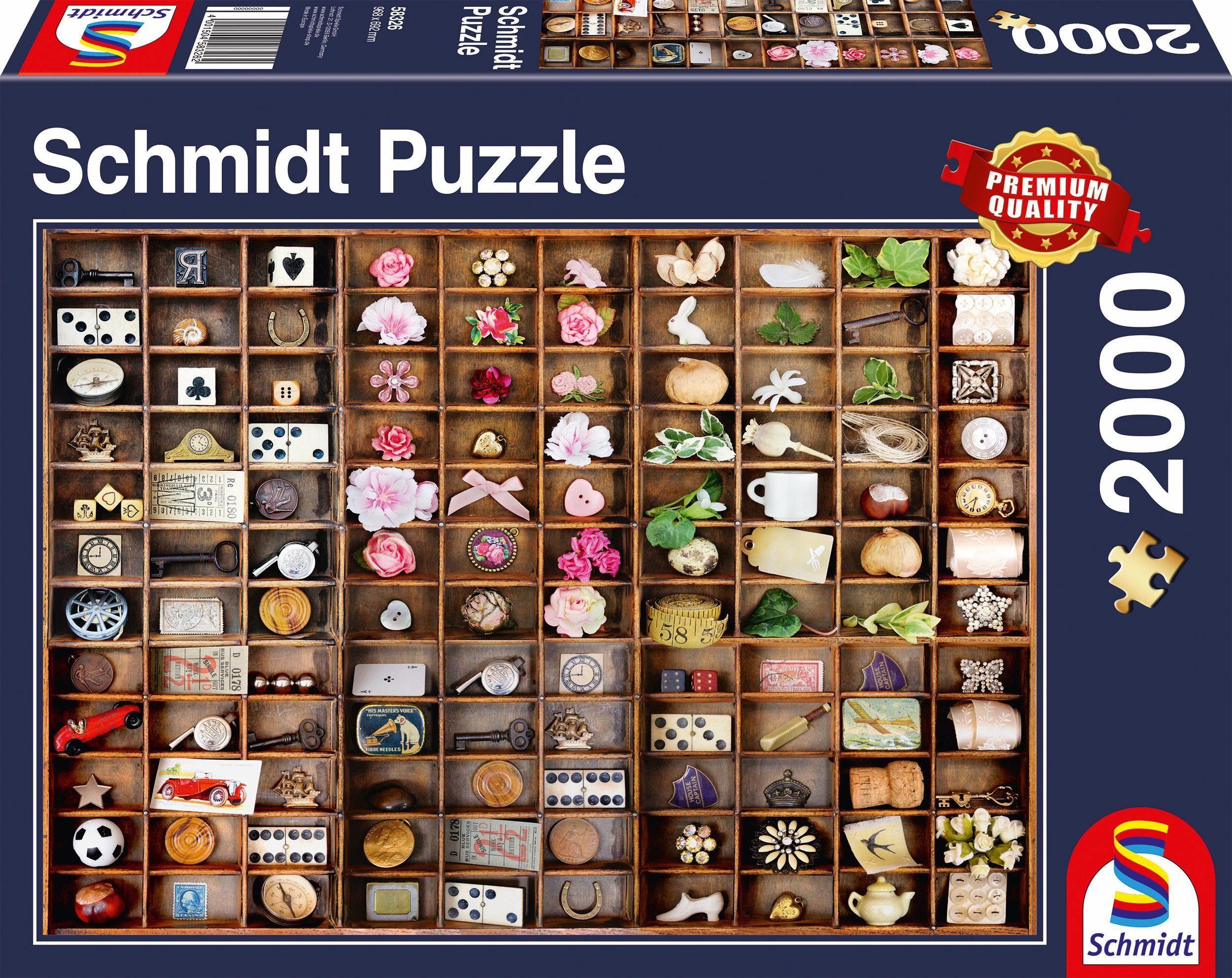 Schmidt Spiele Puzzle, »Schätze im Setzkasten, 2000 Teile«