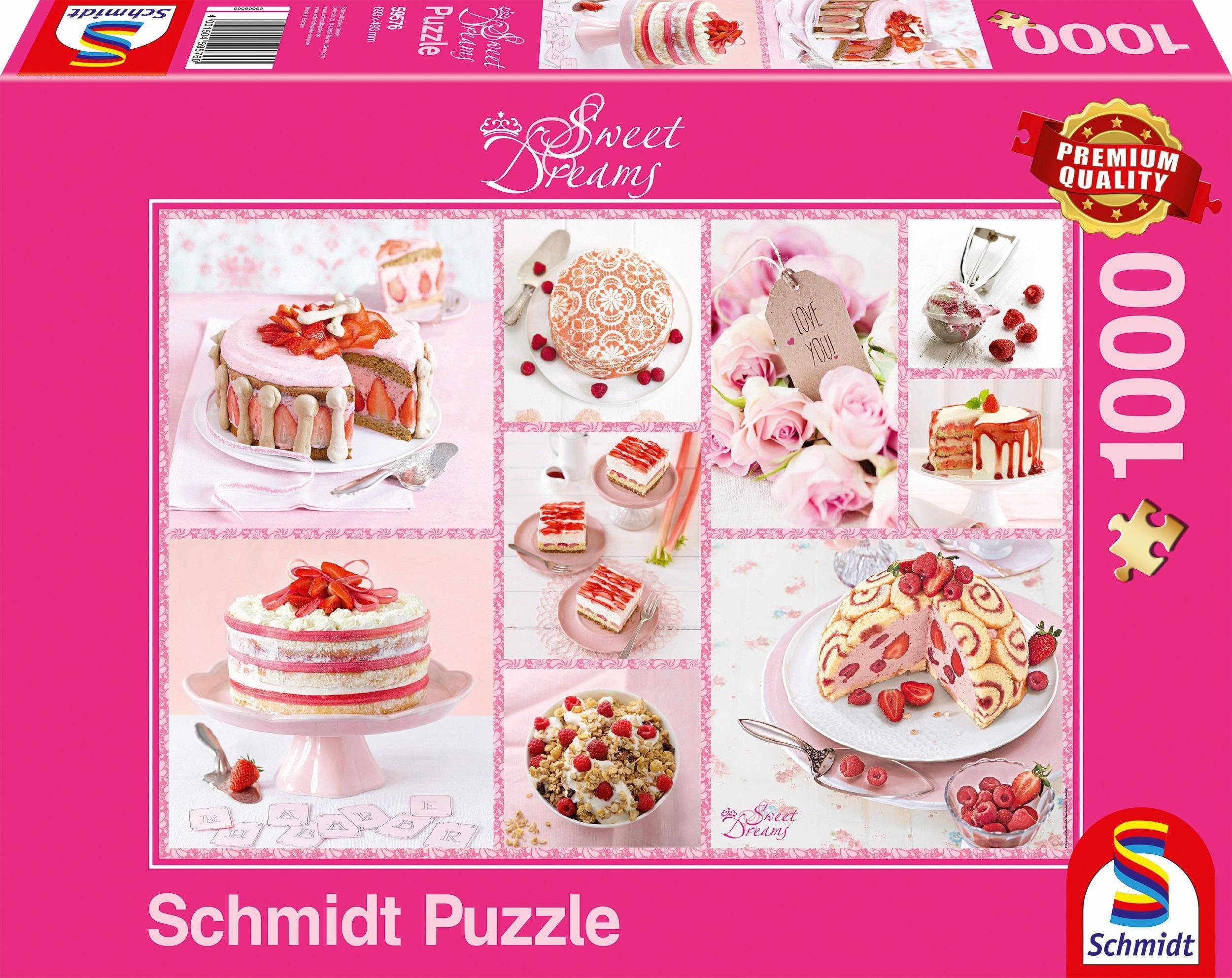 Schmidt Spiele Puzzle, »Rosa Tortenglück, 1000 Teile«
