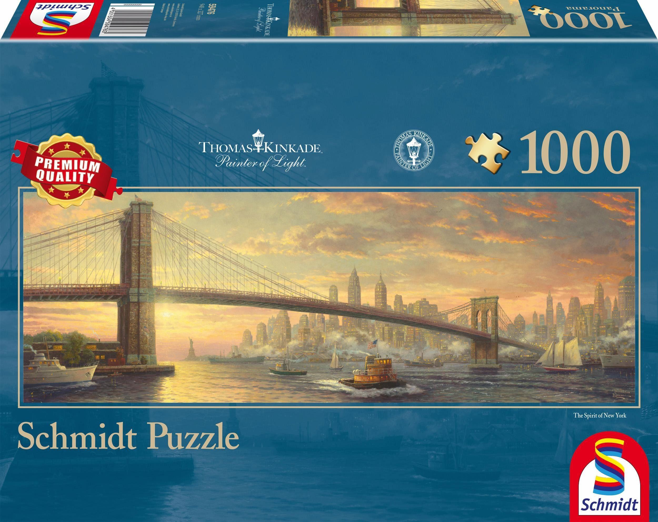 Schmidt Spiele Panoramapuzzle, »New York, 1000 Teile«