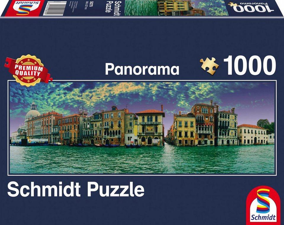 schmidt spiele panoramapuzzle blick auf venedig 1000. Black Bedroom Furniture Sets. Home Design Ideas