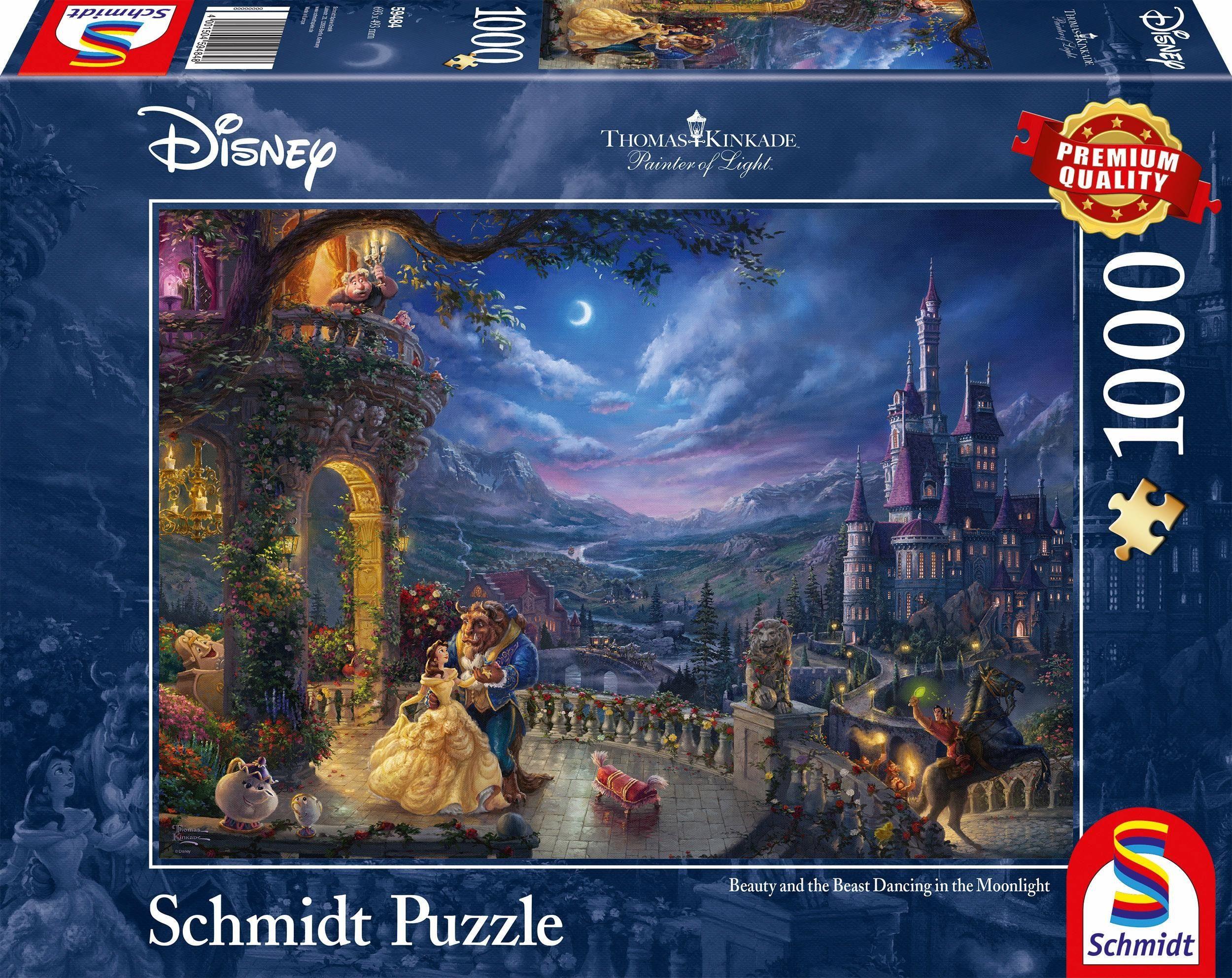 Schmidt Spiele Puzzle, »Disney Die Schöne und das Biest, Tanz im Mondlicht, 1000 Teile«