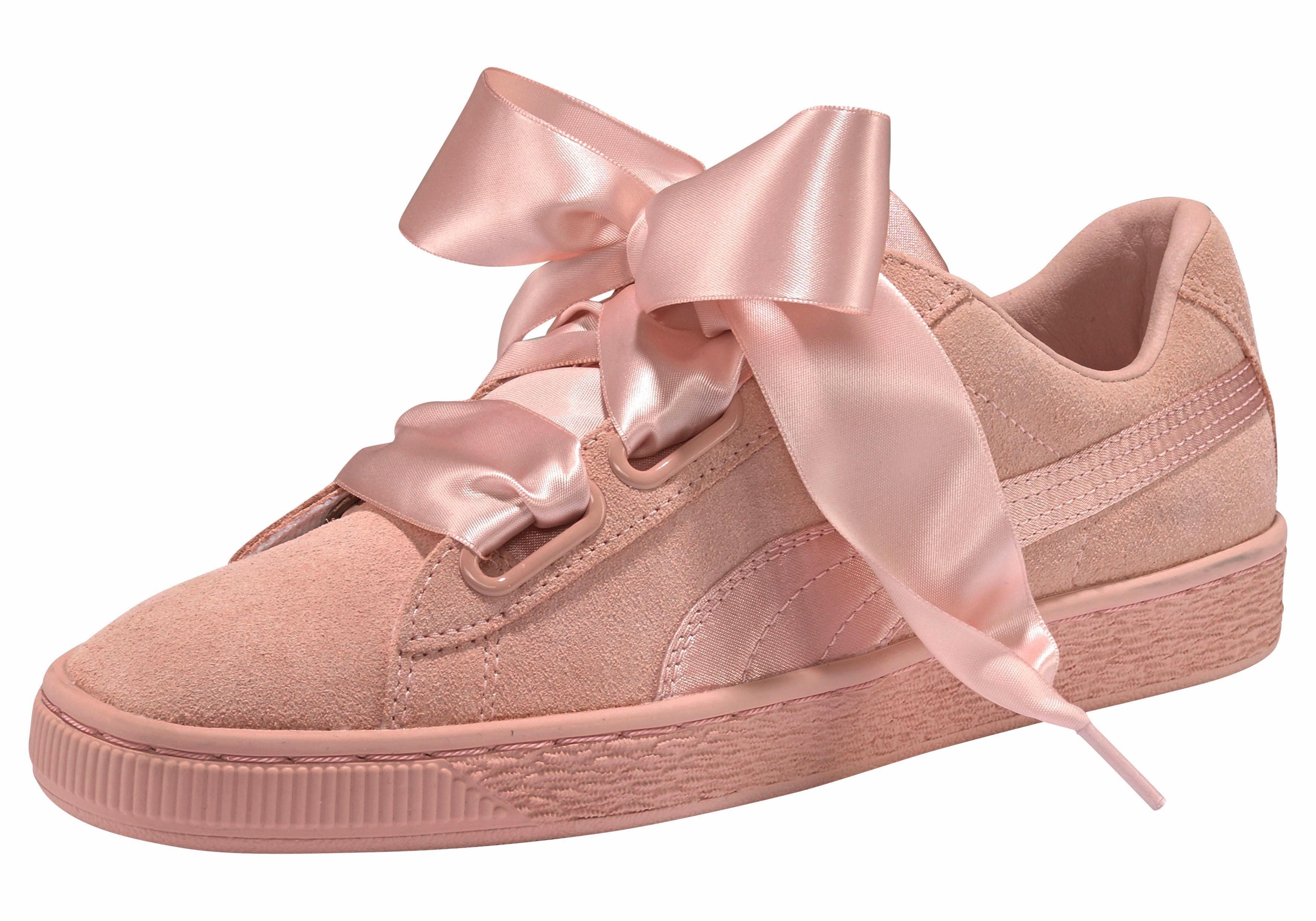 puma schuhe damen rosa mit schleife freizeitschuhe