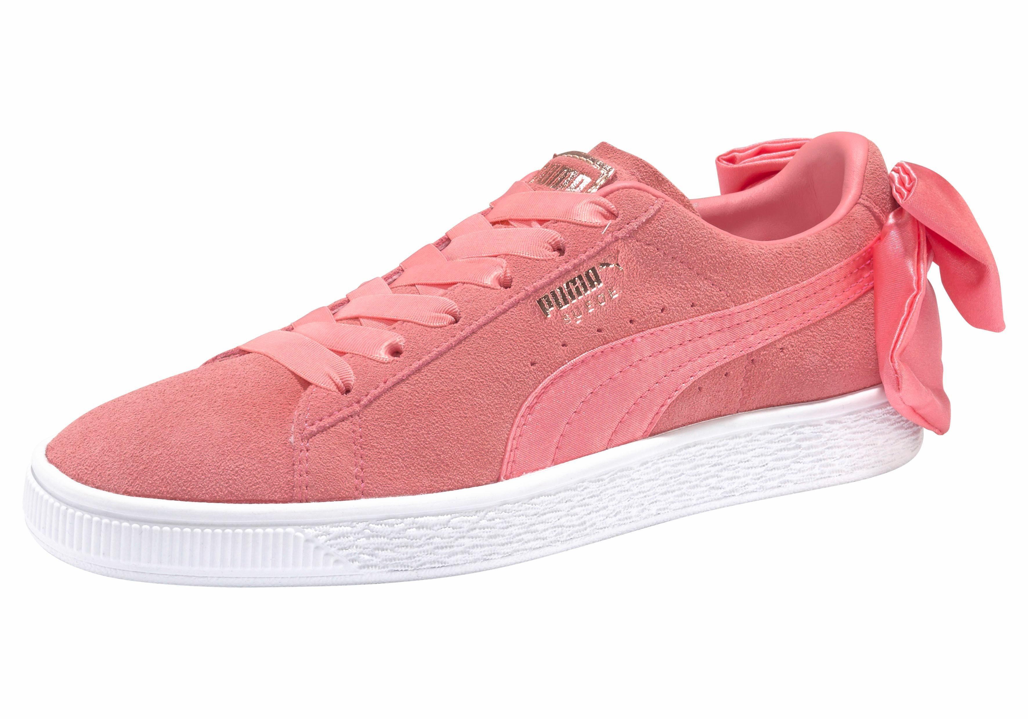 PUMA Suede Bow Wn´s Sneaker, Schleife kaufen  koralle
