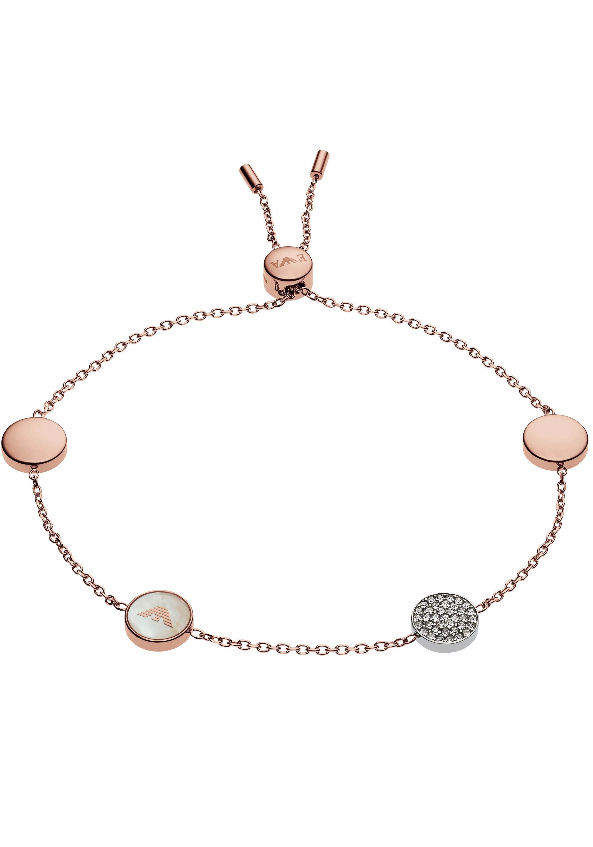 Emporio Armani Armband »EGS2308221« mit Perlmutt und Glassteinen