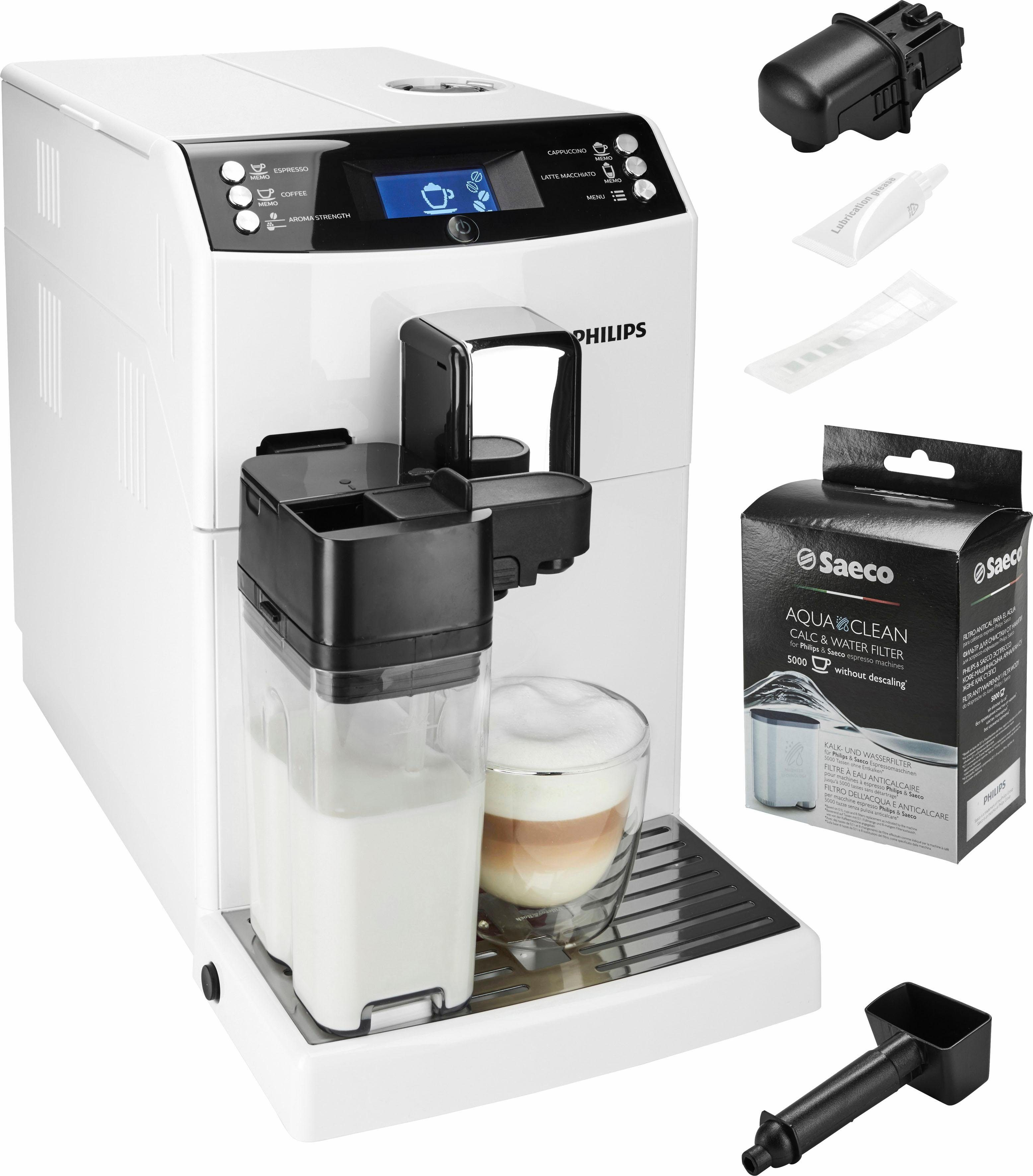Philips Kaffeevollautomat EP3362/00, 1,8l Tank, Scheibenmahlwerk