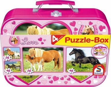 Schmidt Spiele Puzzle »Pferde Box«, 148 Teilig