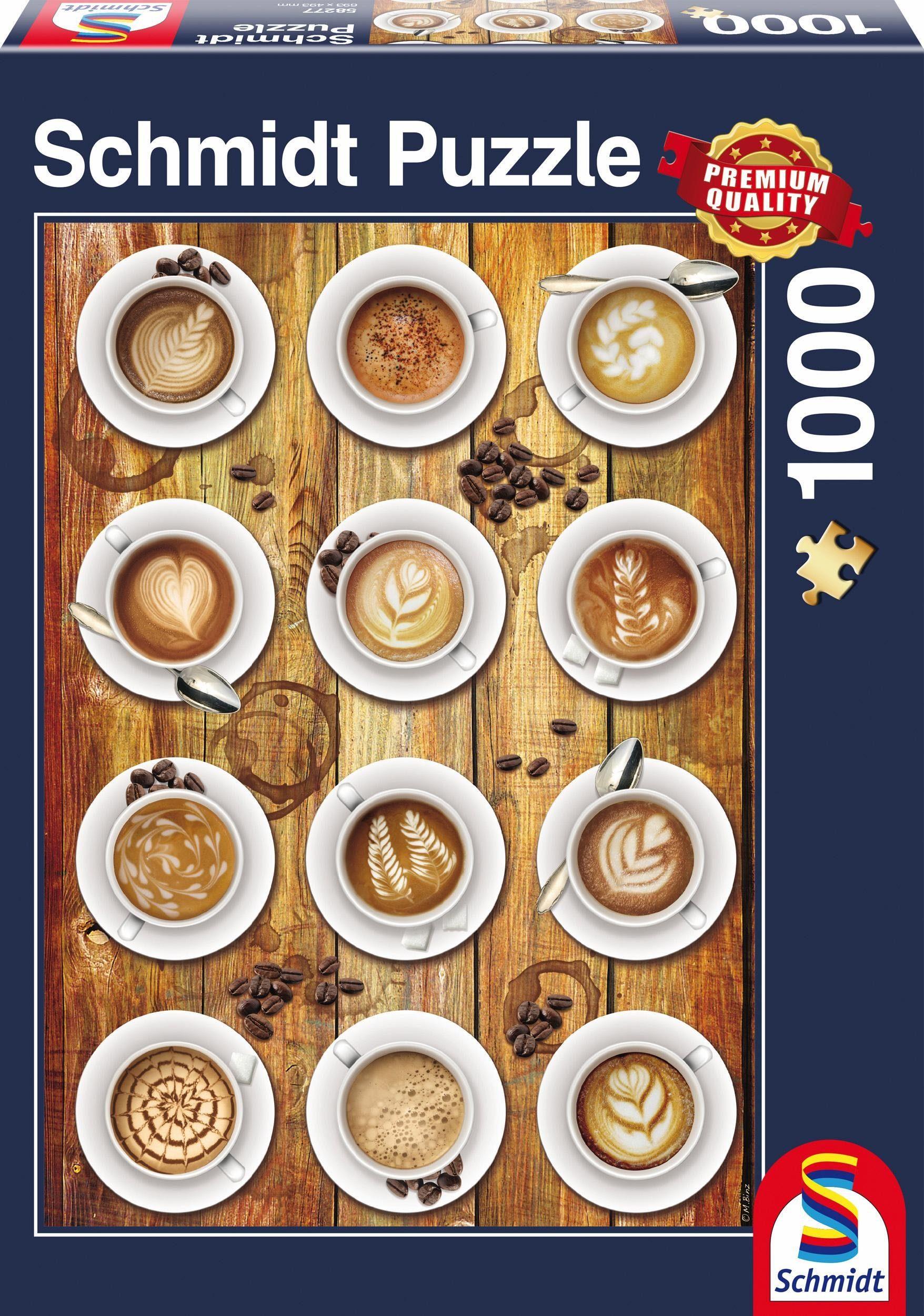 Schmidt Spiele Puzzle, »Kaffee-Kunstwerke, 1000 Teile«