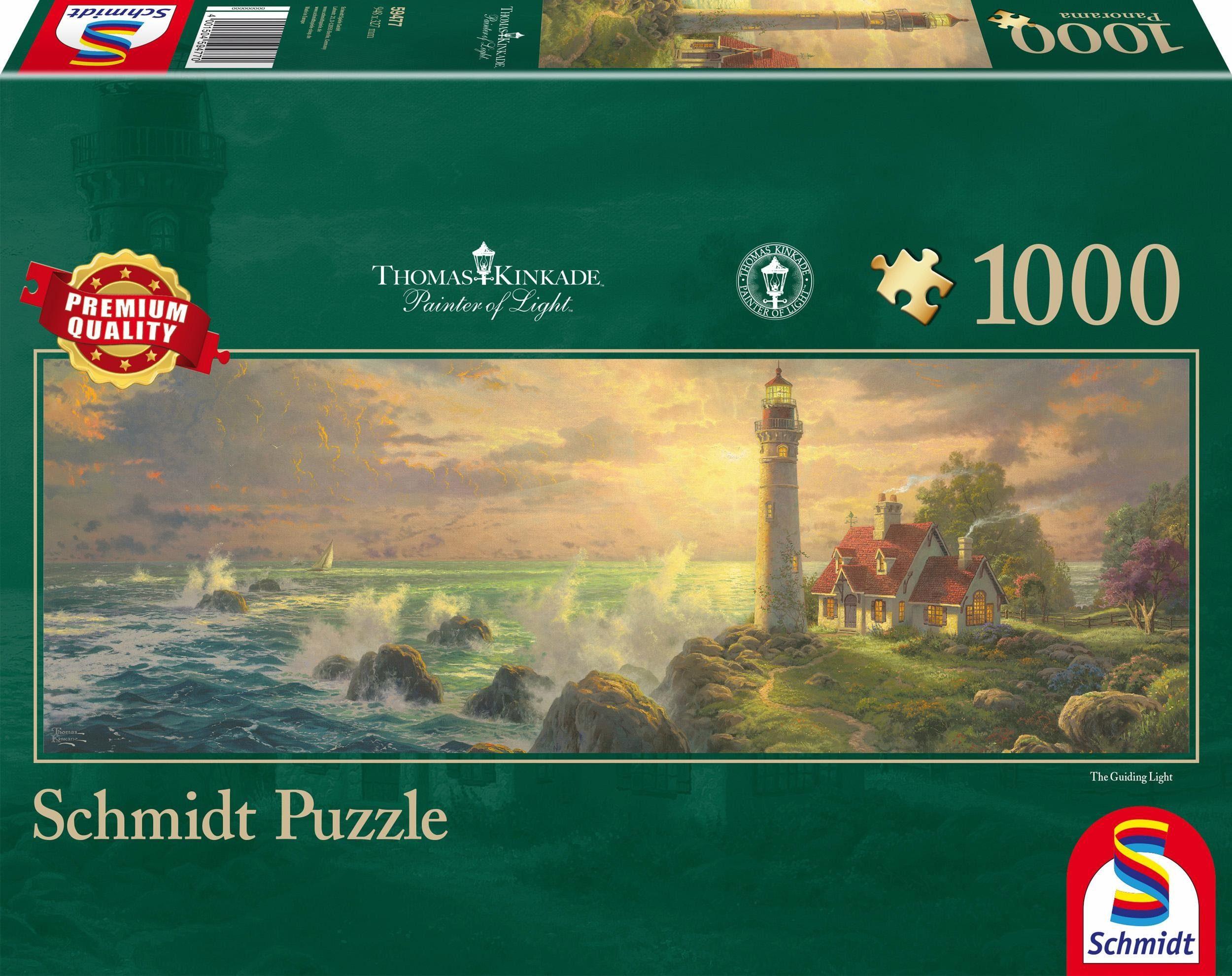 Schmidt Spiele Panoramapuzzle, »Leuchtturm-Idylle, 1000 Teile«