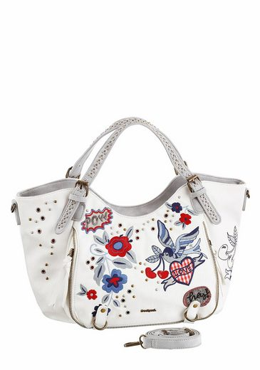 Desigual Shopper Flowers Rotterdam, With Beautiful Embroidery