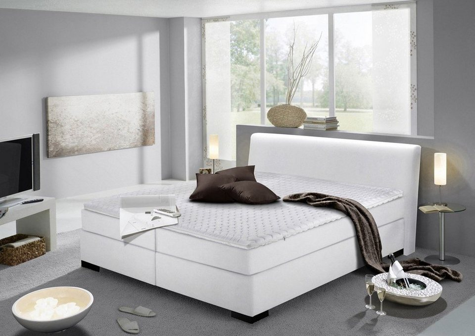 kasper wohndesign boxspringbett kunstleder wei versch gr en berl nge inotu online kaufen. Black Bedroom Furniture Sets. Home Design Ideas