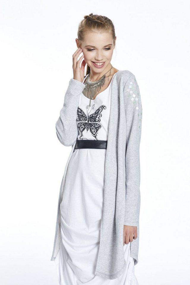 Damen myMo Sweatjacke grau  Damen-Sweatshirts
