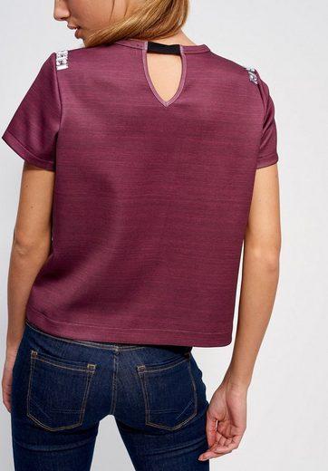 Mexx Sweatshirt, mit Zierstein- Verzierung an Schulter