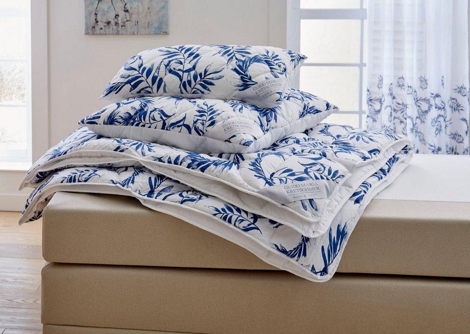 4 Jahreszeitenbett Kopfkissen Blue Leaves Guido Maria Kretschmer Home Living 4 Jahreszeiten Material Fullung Polyester Online Kaufen