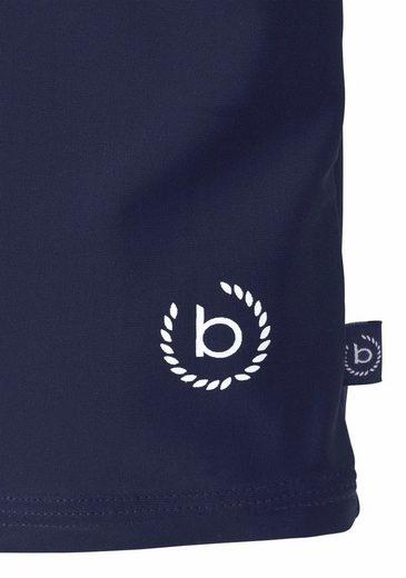 Bugatti Boxer-Badehose mit gestreiftem Kontrastbündchen