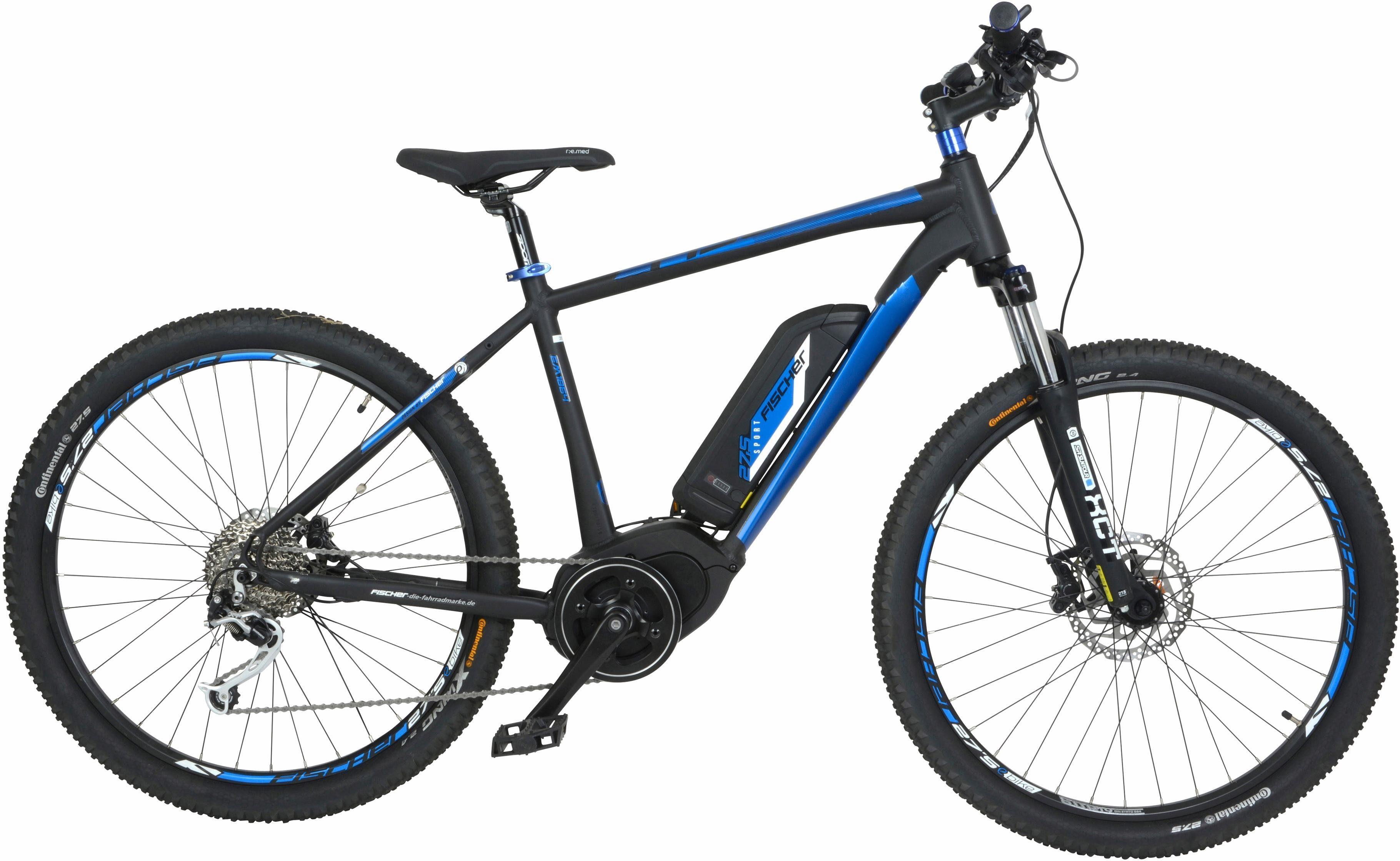 FISCHER Mountainbike E-Bike, 48 V/250 W Mittelmotor, 27,5+ Zoll, 9-Gang-Shimano XT Schaltwerk, »EM 1864 Ready«