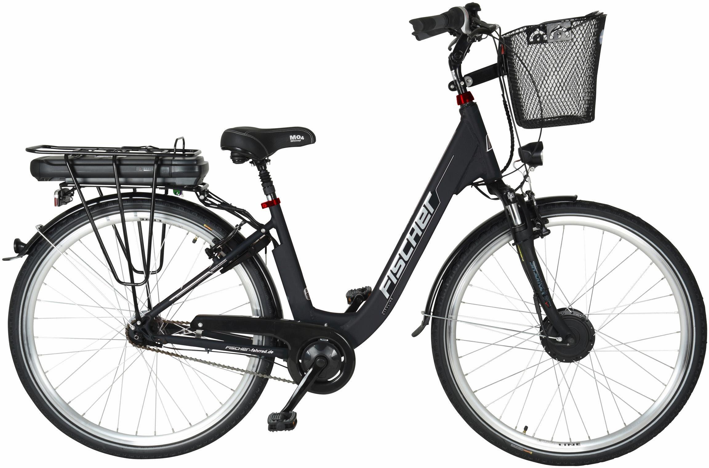 FISCHER City E-Bike, 36V/250W Vorderradmotor, 28 Z., 7-G.-Shimano Nabensch. m. Rücktritt, »ECU 1802«