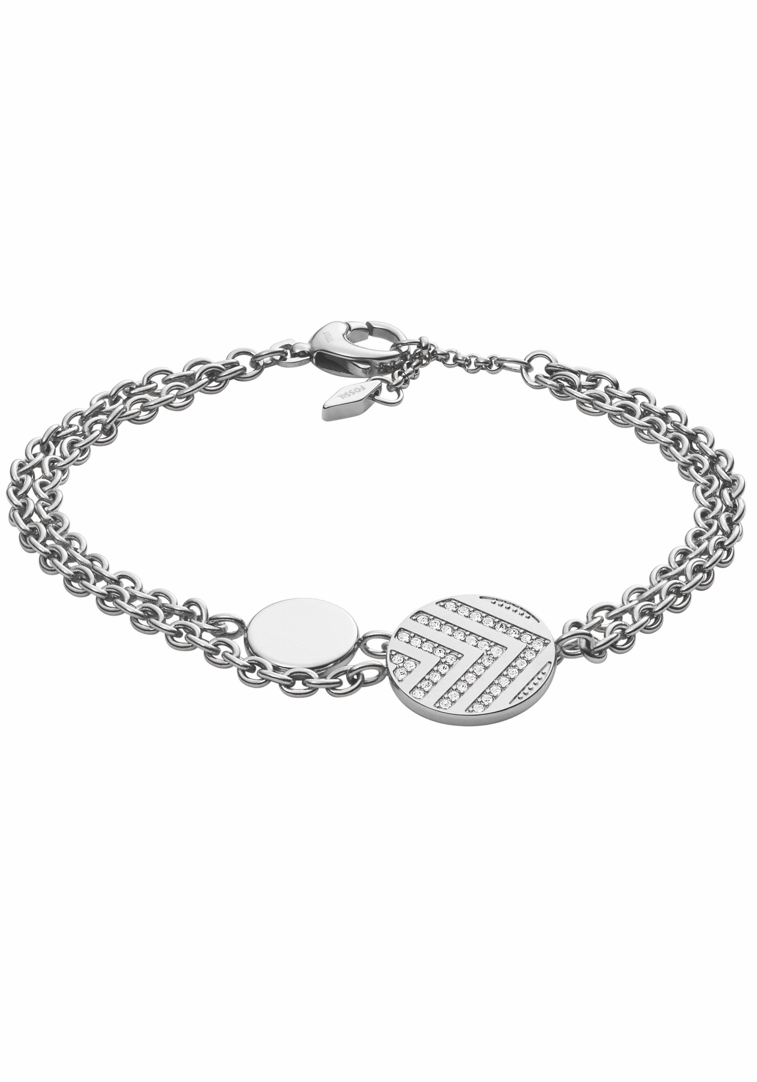 Fossil Armband »JF02818040« mit Glassteinen