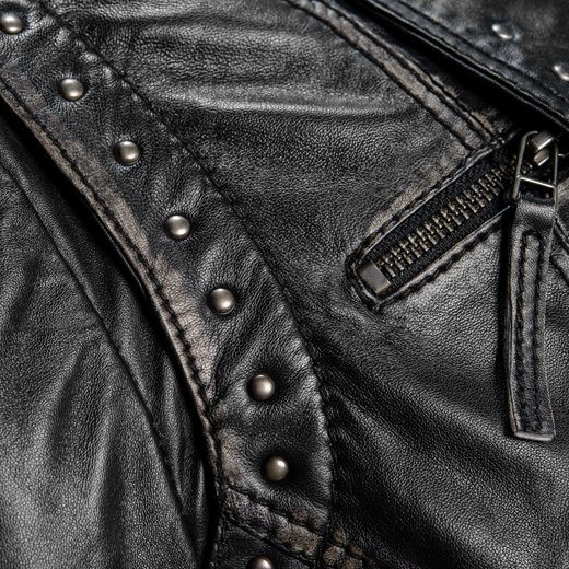 TOM TAILOR Lederjacke im Bikerlook Glenna