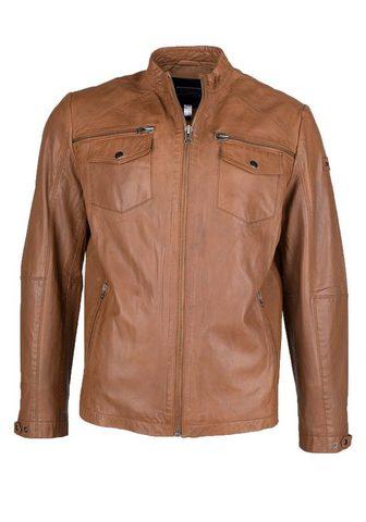 Куртка кожаная с komfortablen карман &...
