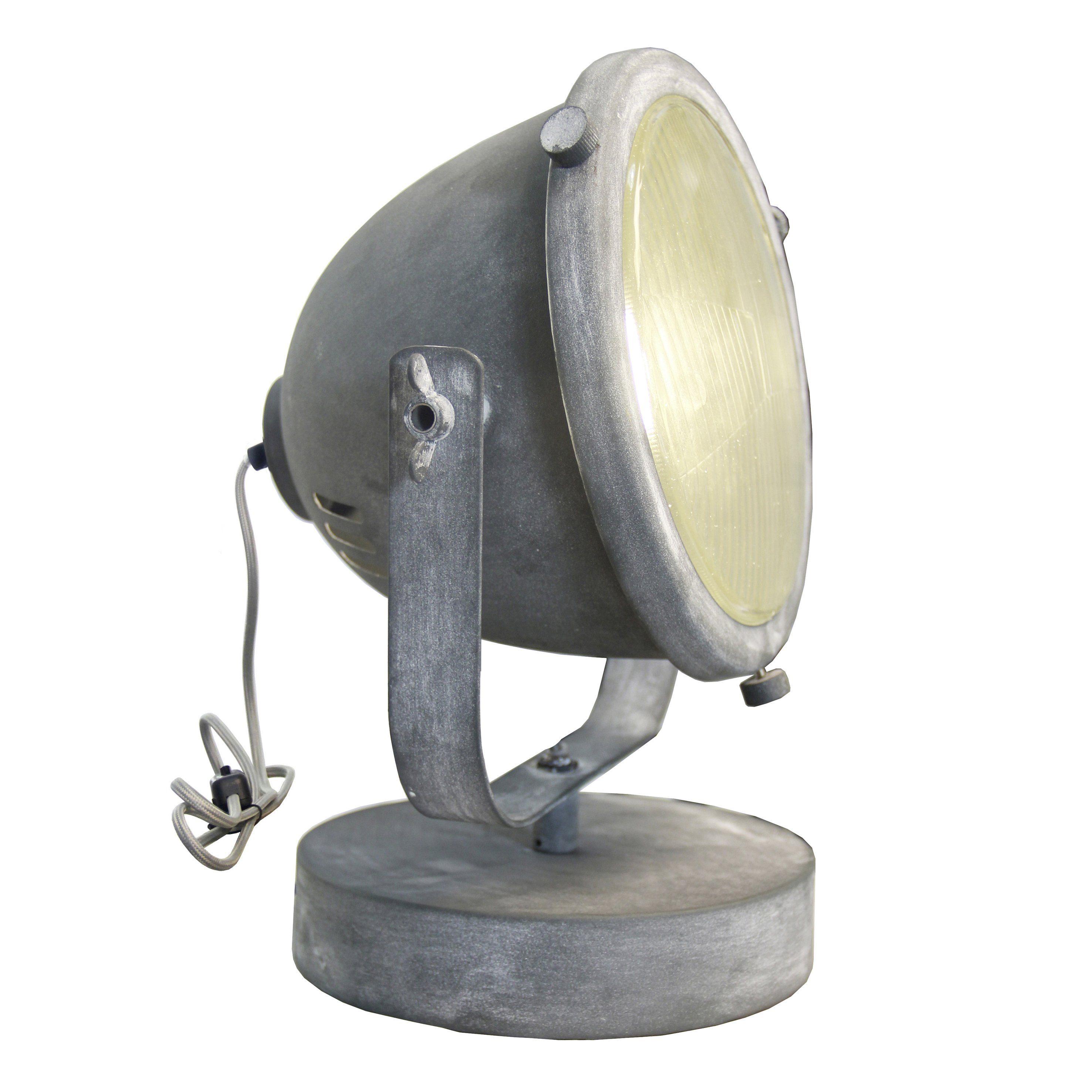 Brilliant Leuchten Carmen Tischleuchte 31cm Glas grau Beton