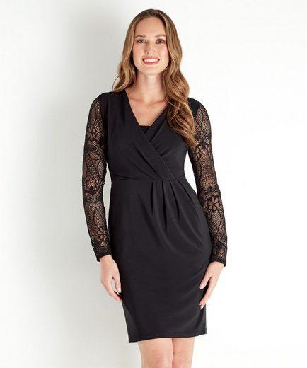 Joe Browns Wickelkleid Joe Browns Women's Black Wrap Dress with Lace Sleeves