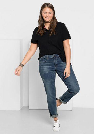 sheego Denim Stretch-Jeans, Mit Used- und Destroyed-Effekten