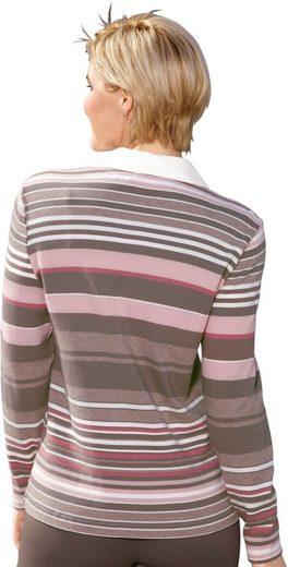 Collection L. Poloshirt im hochwertig garngefärbten Ringel