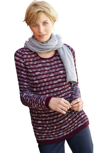Damen Collection L. Pullover im Ringelmuster rot | 04039829105500