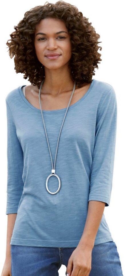Damen Collection L. Shirt mit 3 4-lange Ärmel blau | 08901145459963
