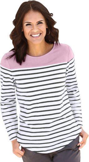 Collection L. Shirt - oben aus farbigem Veloursleder-Imitat