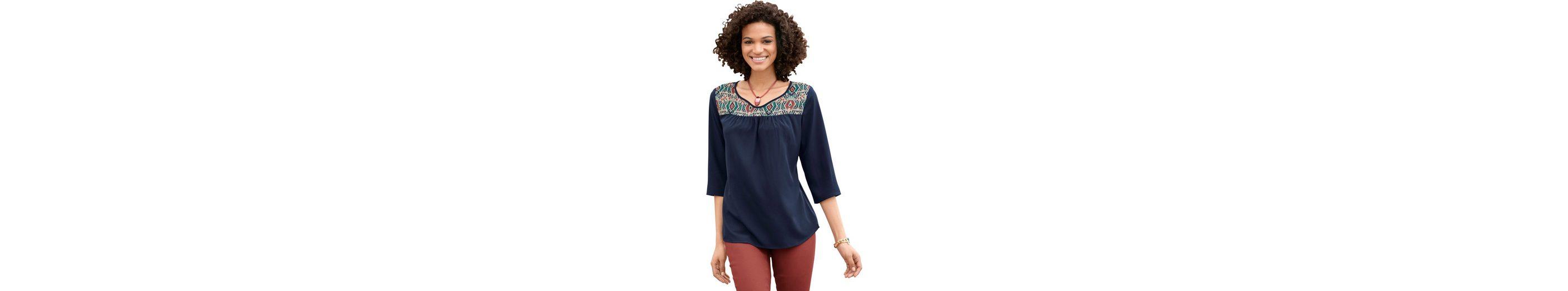 Classic Basics Bluse mit schön gestaltetem Ausschnitt  Beschränkte Auflage DtYOgK