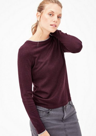 s.Oliver RED LABEL Feinstrickpullover im Layer-Look