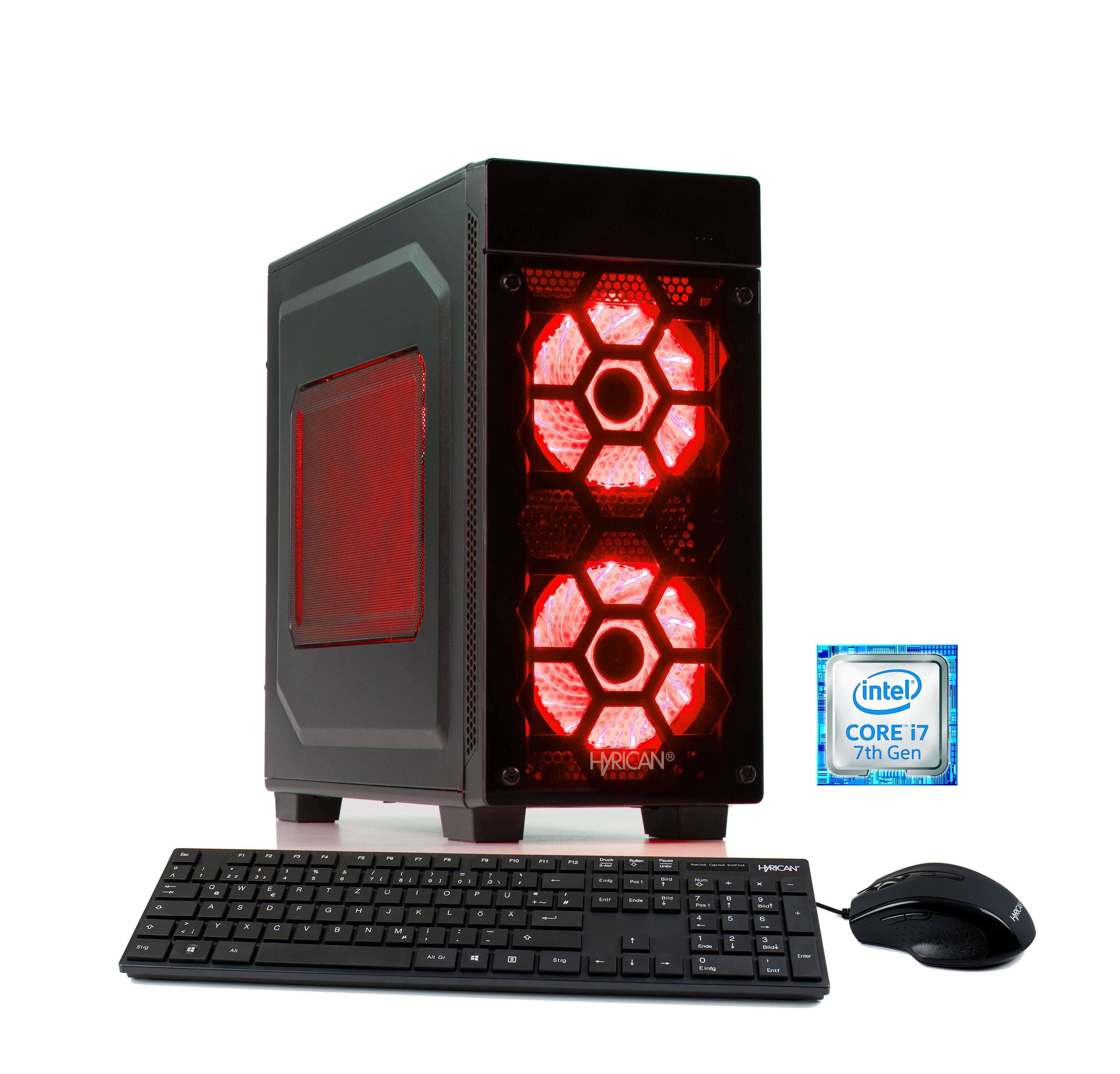 HYRICAN Gaming PC Intel® i7-7700 16GB 2TB 240GB SSD GeForce® GTX 1070 Ti »Striker 5658«