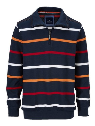 Babista Sweatshirt mit Ton-in-Ton Webbesatz