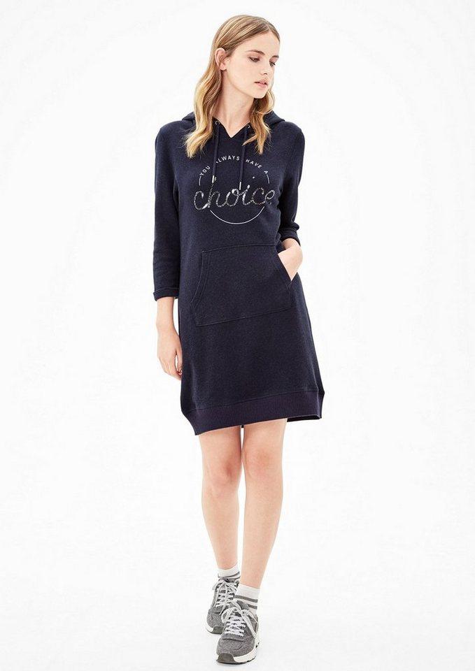 s.Oliver RED LABEL Sweat-Kleid mit Pailletten