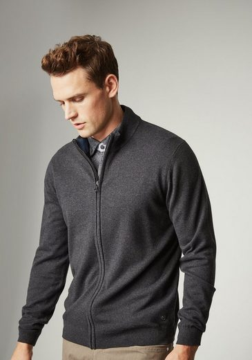 PIERRE CARDIN Strickjacke aus Pima Cotton und Merino Wolle - Regular Fit Royal Blend