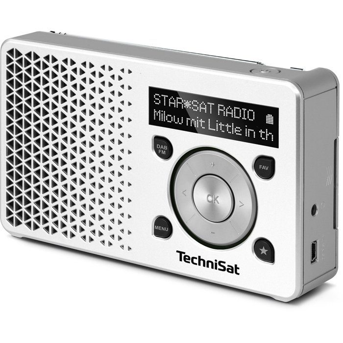 TechniSat DAB+ Digitalradio Made in Germany »DIGITRADIO 1 weiß/silber«