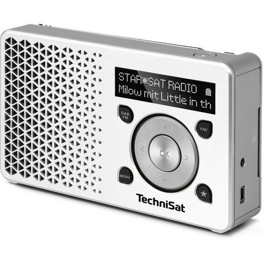 TechniSat DAB+ Digitalradio Made in Germany »DIGITRADIO 1 weiß/silber«