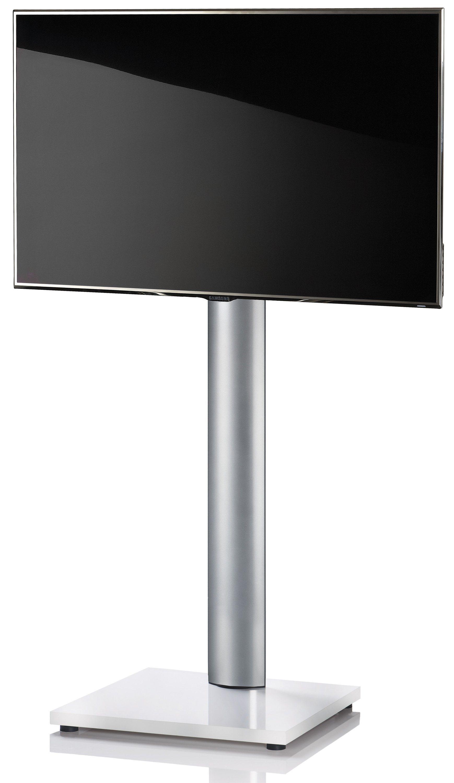 VCM TV-Standfuß ´´Onu Weißlack´´ | Wohnzimmer > TV-HiFi-Möbel > Ständer & Standfüße | Silber | Aluminium - Mdf - Lackiert | VCM