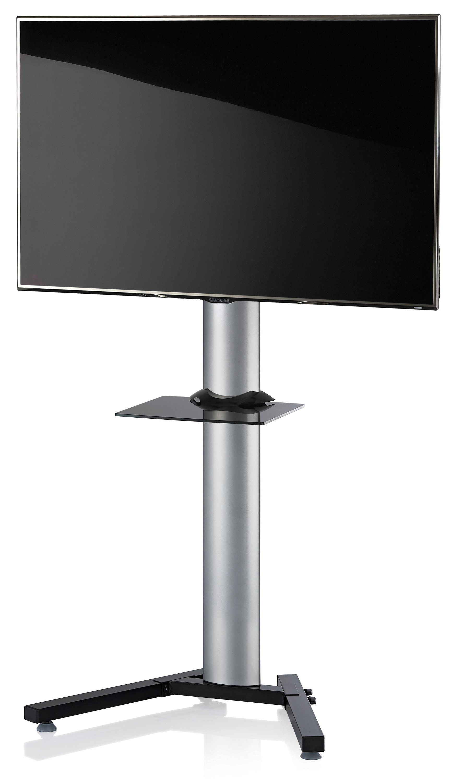 VCM TV-Standfuß ´´Stadino Maxi Silber Zwischenboden´´ | Wohnzimmer > TV-HiFi-Möbel > Ständer & Standfüße | Silber | Aluminium - Sicherheitsglas - Stahl | VCM