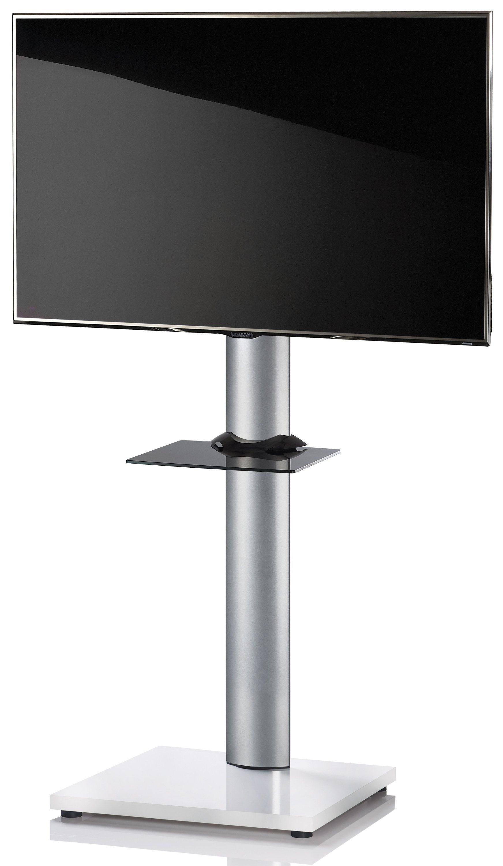 VCM TV-Standfuß ´´Onu Weißlack´´ | Wohnzimmer > TV-HiFi-Möbel > Ständer & Standfüße | Weiß | Aluminium - Mdf - Sicherheitsglas - Lackiert | VCM