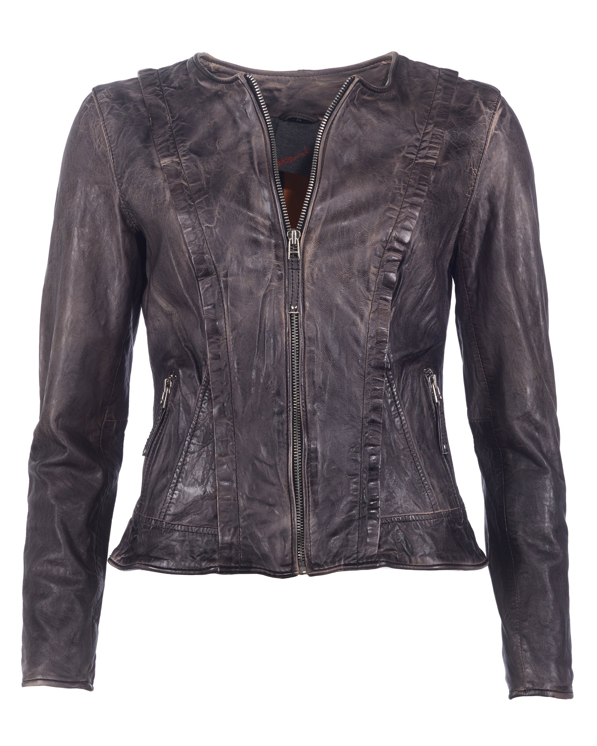 Damen JCC Lederjacke AS16B-L28 grau | 04051845645969