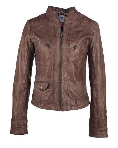 Jcc Leather Jacket With Subtle Highlights Diana