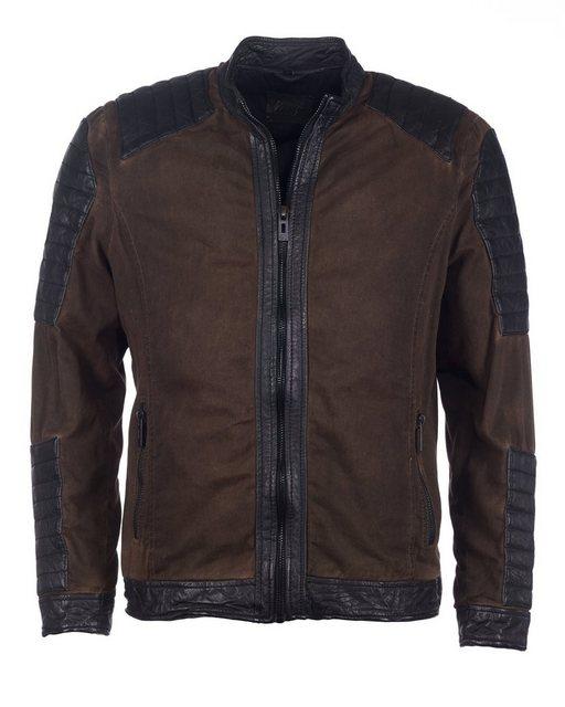 maze -  Jacke mit Rindernappa-Leder »Barasso«