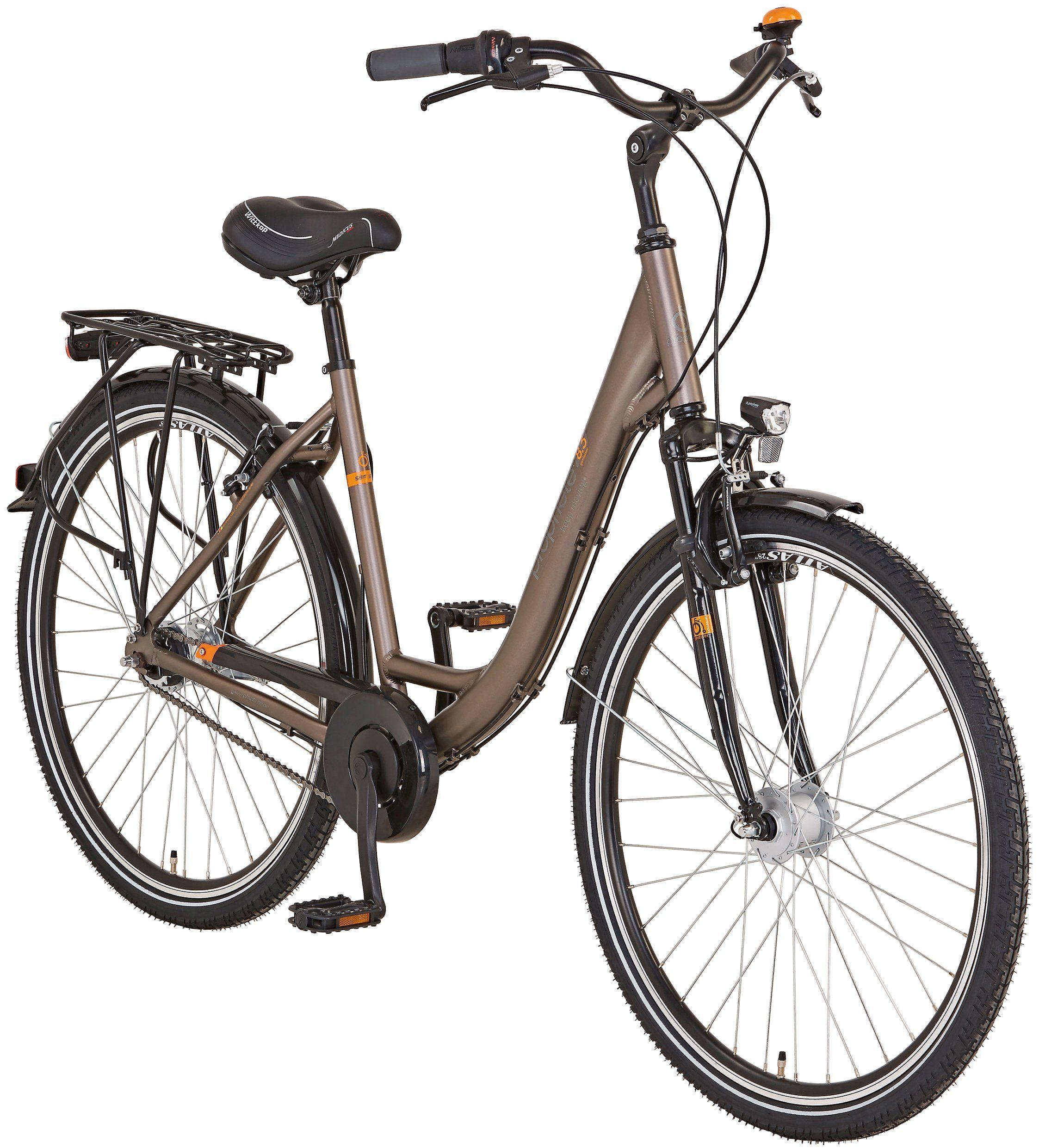PROPHETE Citybike Damen »Alu-City GENIESSER 8.7«, 28 Zoll, 7 Gang, Rohrgepäckträger