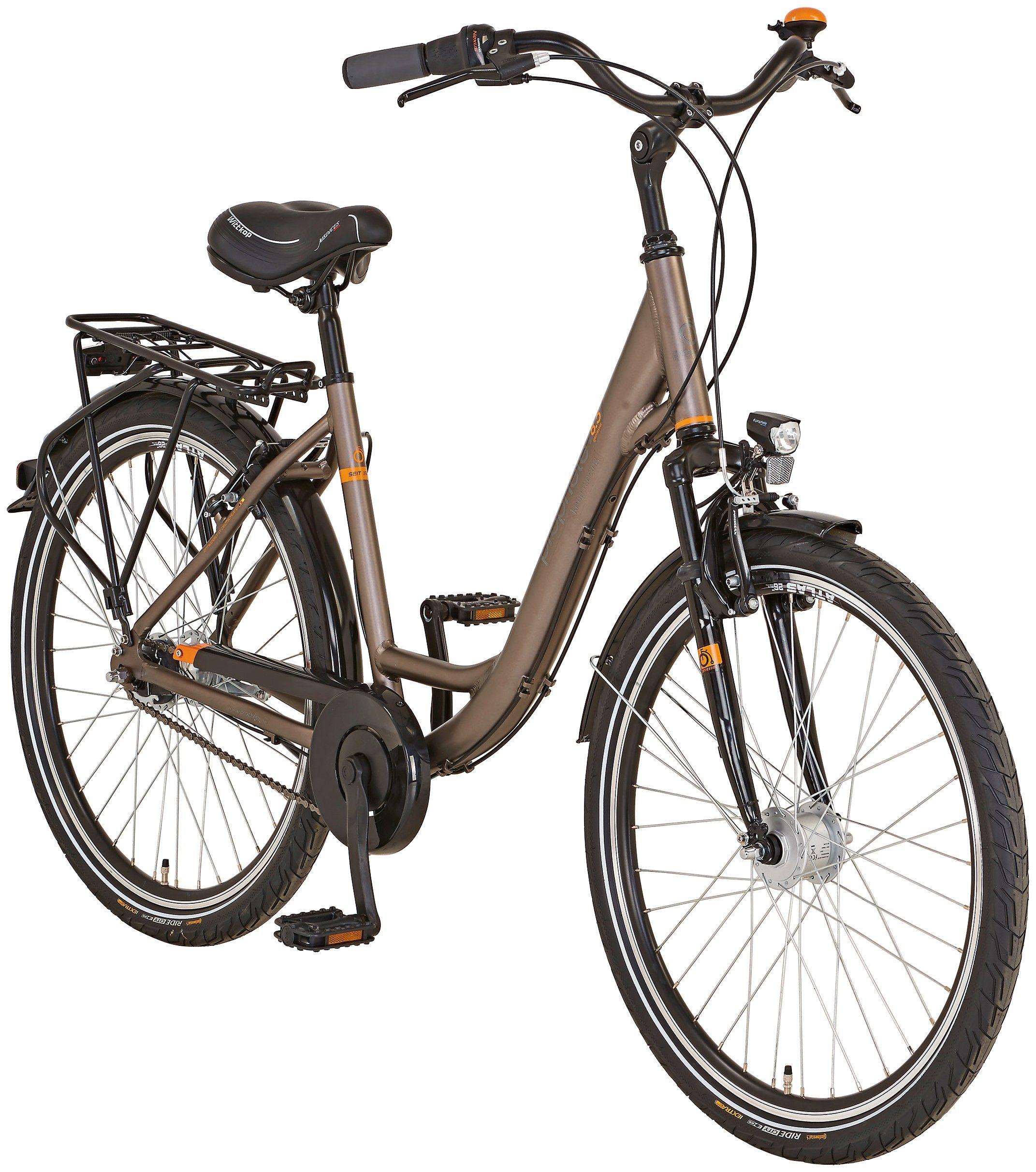 PROPHETE Citybike Damen »Alu-City GENIESSER 8.5«, 26 Zoll, 7 Gang, Rohrgepäckträger